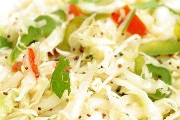 Salade chou indienne